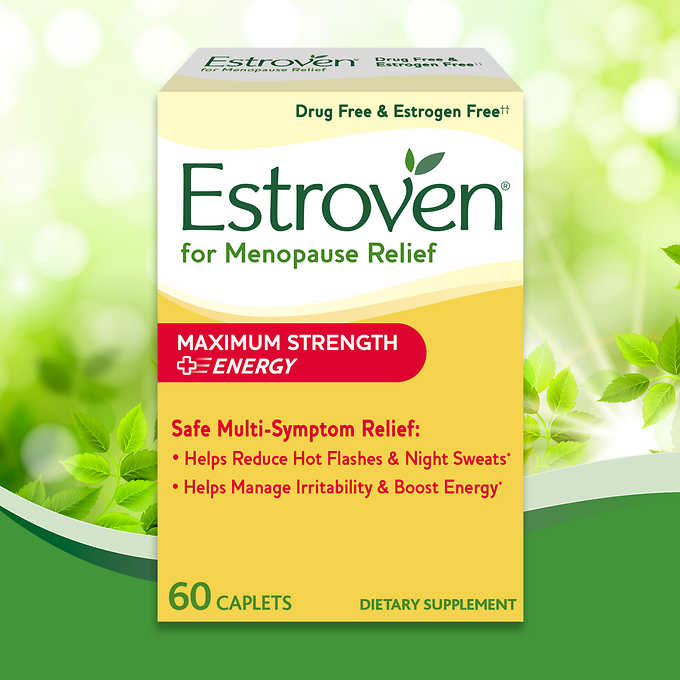 Estroven Maximum Strength + Energy, 60 Caplets 舒緩更年期症狀營養素 (60粒)